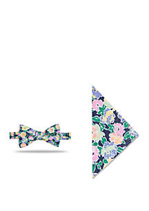 Crown & Ivy™ Orleans Floral Bow Tie And Pocket Square Set