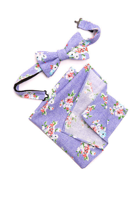 Crown & Ivy™ Barlett Floral Bow Tie Pocket