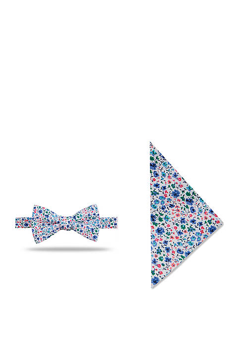 Crown & Ivy™ Elegant Floral Bow Tie and