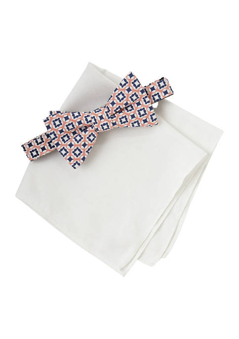 Crown & Ivy™ Medallion Bow Tie and Solid