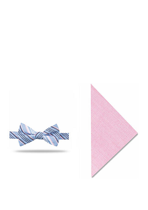 Crown & Ivy™ Connie Stripe Bow Tie And