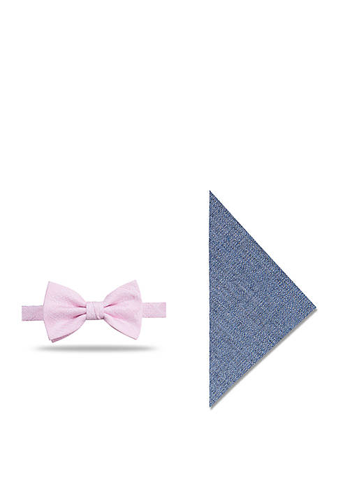 Crown & Ivy™ Newberg Bow Tie and Pocket