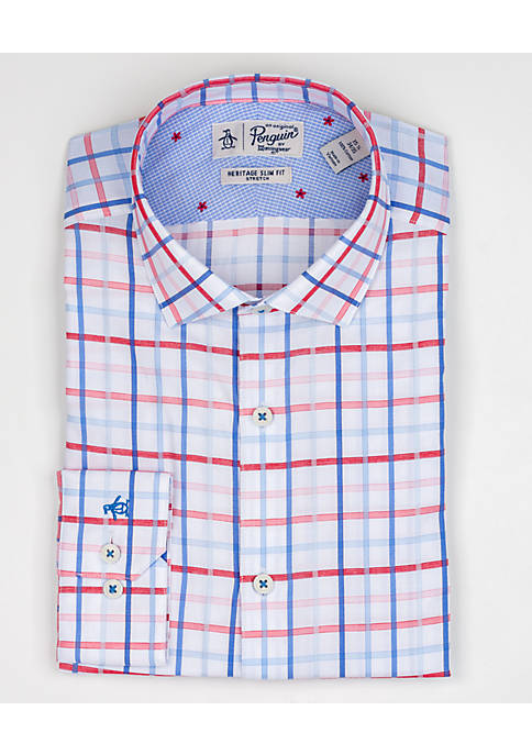 Penguin BY Munsingwear Sunrise Dobby Check Dress Shirt