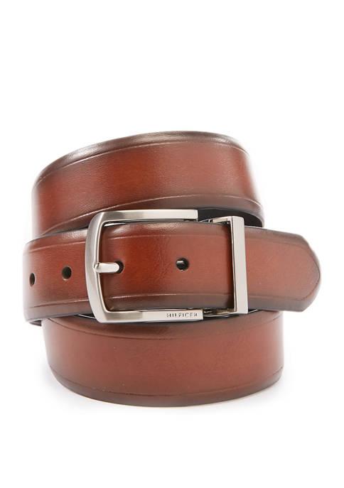 35 Millimeter Vachetta Casual Reversible Belt with Heat Crease