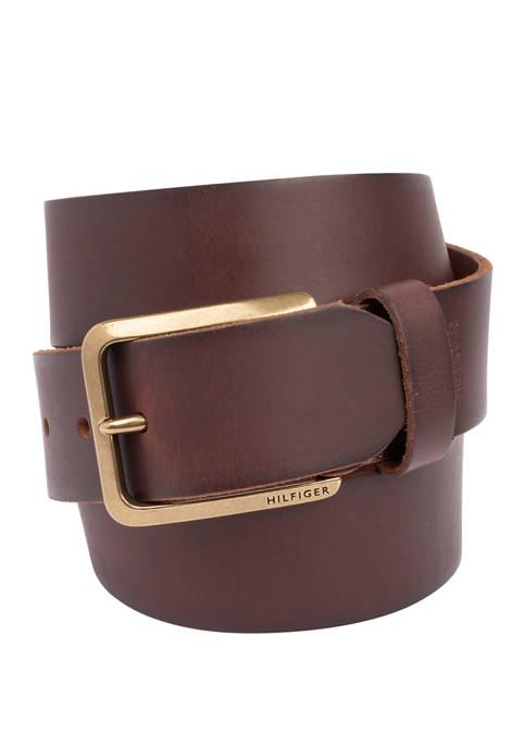 40 Millimeter Flat Panel Belt with Heavy Buckle