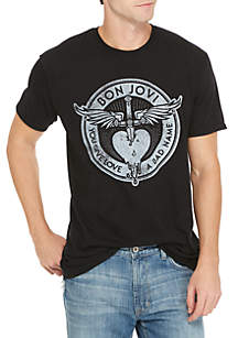 Freeze Short Sleeve Bon Jovi You Give Love A Bad Name Graphic Tee