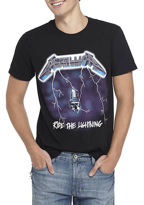 MD Metallica Ride the Lightning Graphic T-Shirt