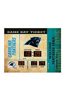Bluetooth Scoreboard Wall Clock Carolina Panthers