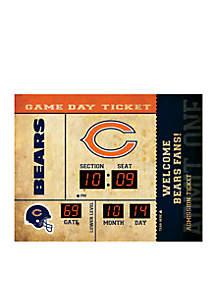 Bluetooth Scoreboard Wall Clock Chicago Bears