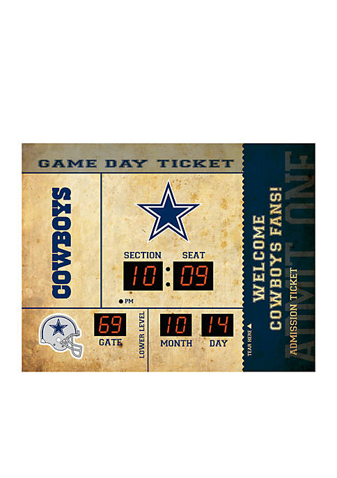 Team Sport America Bluetooth Scoreboard Wall Clock Dallas