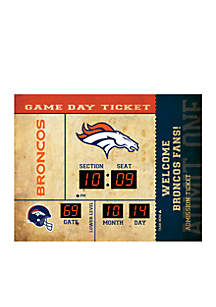 Bluetooth Scoreboard Wall Clock Denver Broncos