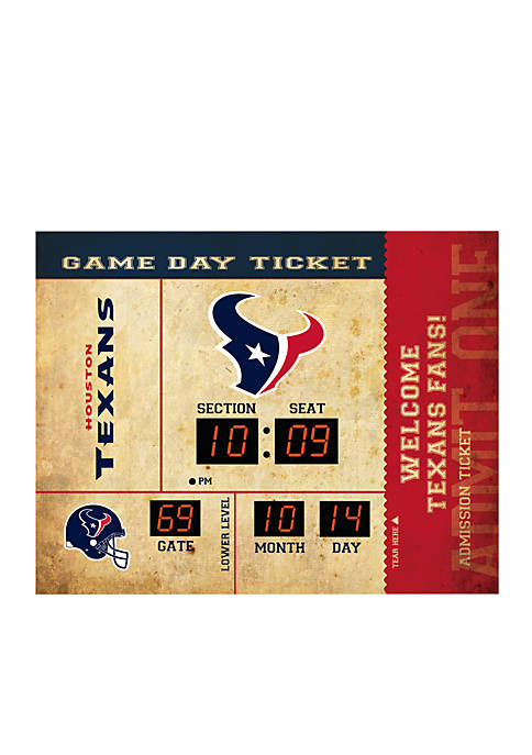 Team Sport America Bluetooth Scoreboard Wall Clock Houston