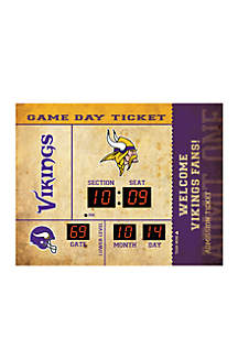 Team Sport America Bluetooth Scoreboard Wall Clock Minnesota Vikings