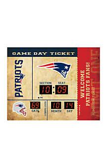 Bluetooth Scoreboard Wall Clock New England Patriots