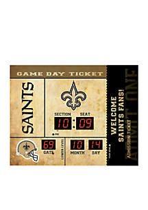 Bluetooth Scoreboard Wall Clock New Orleans Saints