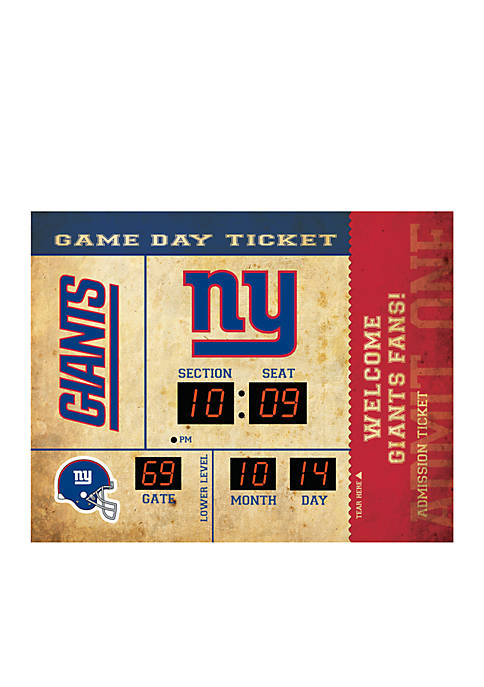Bluetooth Scoreboard Wall Clock New York Giants