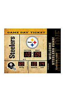 Bluetooth Scoreboard Wall Clock Pittsburgh Steelers