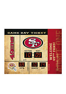 Bluetooth Scoreboard Wall Clock San Francisco 49ers