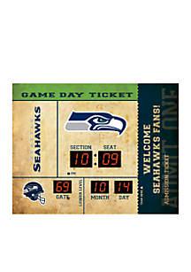 Bluetooth Scoreboard Wall Clock Seattle Seahawks