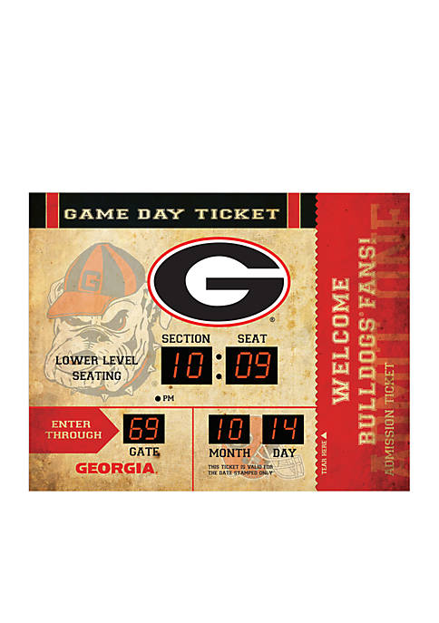 Team Sport America Bluetooth Scoreboard Wall Clock Georgia
