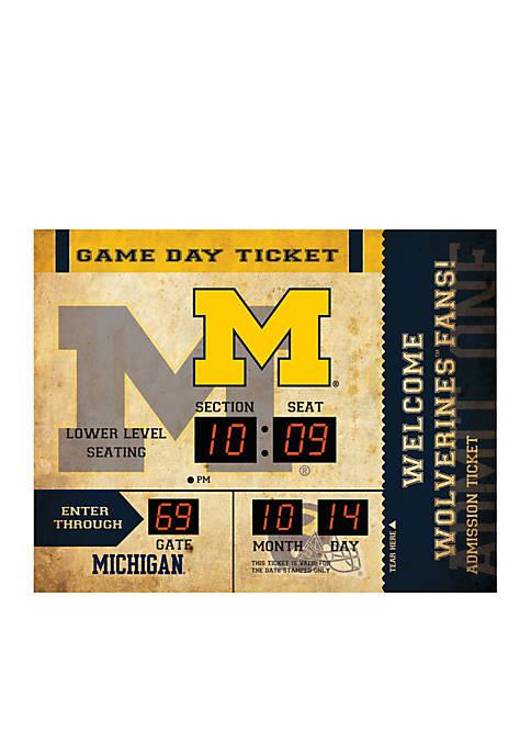 Bluetooth Scoreboard Wall Clock University of Michigan