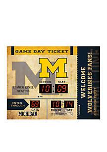 Team Sport America Bluetooth Scoreboard Wall Clock University of Michigan