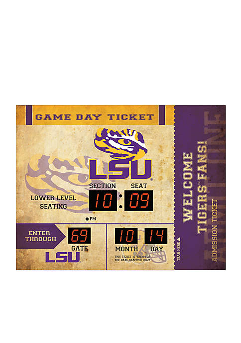 Team Sport America Bluetooth Scoreboard Wall Clock LSU