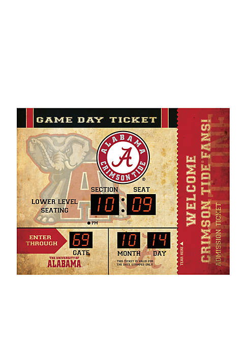 Team Sport America Bluetooth Scoreboard Wall Clock Alabama