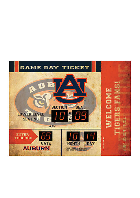 Team Sport America Bluetooth Scoreboard Wall Clock Auburn