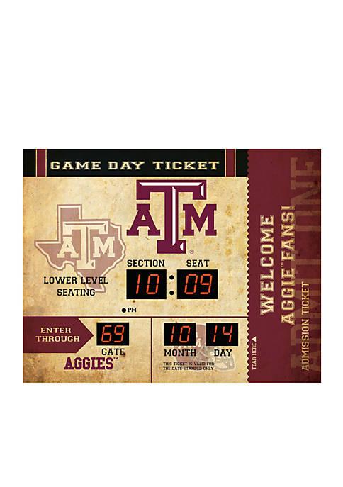Bluetooth Scoreboard Wall Clock Texas A&M