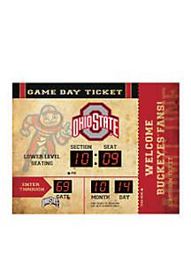Team Sport America Bluetooth Scoreboard Wall Clock Ohio State