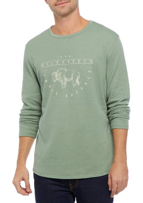 Hedge Green Buffalo Graphic T-Shirt