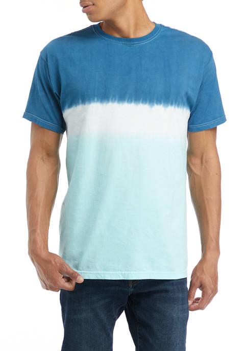 Short Sleeve Light Indigo Chest Stripe T-Shirt