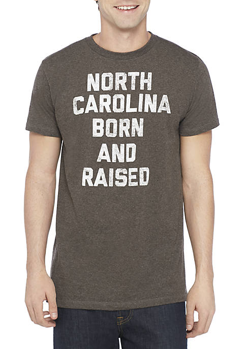 North Carolina Born and Raised T Shirt