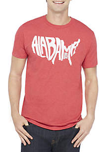 Alabama State Lettering Tee