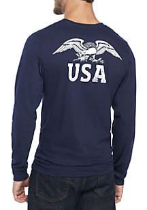Long Sleeve Vintage Eagle Tee Shirt