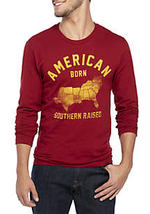 Long Sleeve American Born Tee Shirt
