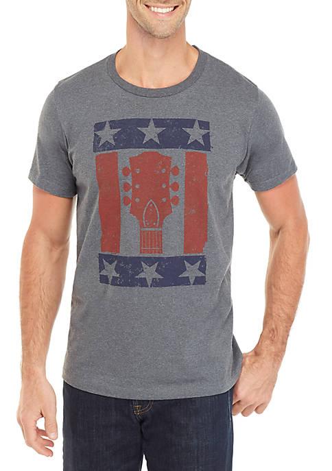 Stars and Guitars Graphic T Shirt