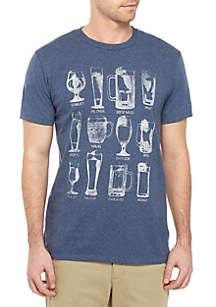 TRUE CRAFT Beer Glasses T Shirt