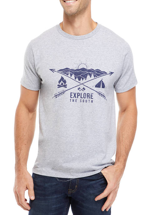 Athletic Heather Camping Graphic T-Shirt