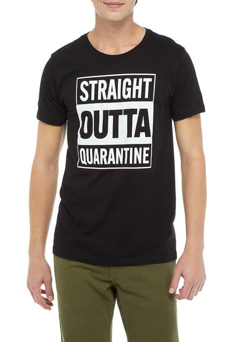 Short Sleeve Straight Outta Quarantine Graphic T-Shirt