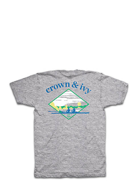 Crown & Ivy™ Short Sleeve Crew Club Graphic