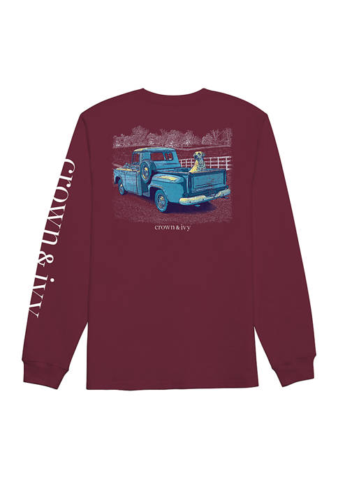 Crown & Ivy™ Long Sleeve Pickup Truck and