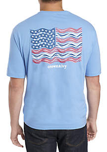 Big & Tall Aquatic Flag Tee
