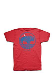 27505dde Crown & Ivy™. Crown & Ivy™ Short Sleeve Bison Graphic Tee