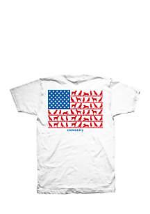 Big & Tall Short Sleeve Buddy Dog Flag Graphic Tee