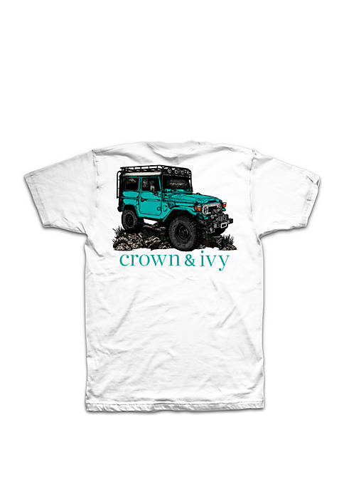 Crown & Ivy™ Big & Tall Jeep Graphic
