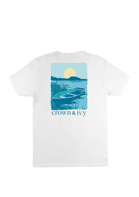 Crown & Ivy™ Mens Casual Short Sleeve Graphic