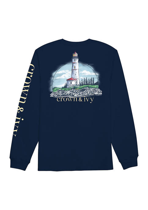 Crown & Ivy™ Long Sleeve Light House Graphic