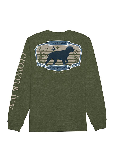 Crown & Ivy™ Juniors Long Sleeve Southern Outfitters